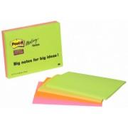 Notes autoadeziv pentru conferinte (4 seturi), 210 x 149mm, 45 file/set, 4 culori neon, POST-IT Super Sticky 6845-SS EU