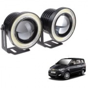 Auto Addict 3.5 High Power Led Projector Fog Light Cob with White Angel Eye Ring 15W Set of 2 For Chevrolet Enjoy