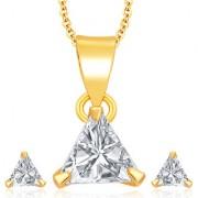 Sukkhi Pleasing Gold Plated CZ Pendant Set For Women