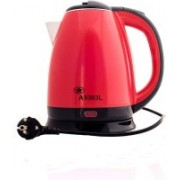 Anmol 1.8L ™ Electric Kettle, 1500W Glass Tea Kettle, Fast Heating LED Cordless Kettle, Auto Shut--Protection Stainless Steel Inner Lip, Tea Pot, BPA-Free, Water Boile Electric Kettle(1.8 L, Red, Black)