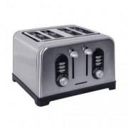 Prajitor de paine Heinner HTP-BK1400XMC 1400W 4 felii 6 nivele de rumenire Inox