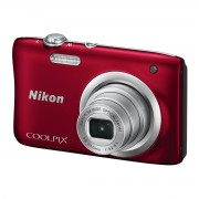 CAMARA DIGITAL NIKON COOLPIX A100 ROJA - 20.1MPX - ZOOM OPTICO 5X - TFT 2.7'/6.7CM - VIDEO 720P HD - ESTABIL. DIGITAL - SD - BAT + FUNDA Y PALO SELFIE