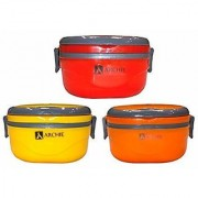 Hot Square Single Insulated Inner Stainless Steel Lunch Box Tiffin Warm Fresh Food Container 1pcs