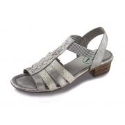 FOOTFLEXX Comfortsandalen of -slippers voor dames (39, zilver)