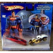 2006 Hot Wheels DC Superman vs. Lex Luthor 2-Pack Wild Thing Blue/Red & 1/4 Mile Coupe White