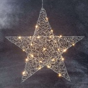 Loop - chrome-coloured LED star 47 cm