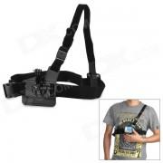 M-cs 3-Degree-Freedom cinturon elastico del hombro de la correa del pecho para el gopro heroe 4/3/2/1 / SJ4000