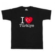 geschenkidee.ch Ländershirt Türkei, Schwarz, XL, Mann