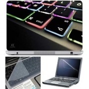 Finearts Laptop Skin Keyboard Color Led With Screen Guard And Key Protector - Size 15.6 Inch