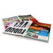 Revistas e Catálogos 8 Páginas Couchê 150g 10x15 cm 4x4 UV Total Frente e Verso 1 dobra e 2 grampos - 500 unidades