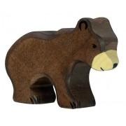 Fa játék állatok - barna medve, kicsi
