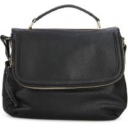Call It Spring Women Casual Black, Gold Genuine Leather Sling Bag