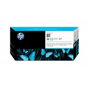 HP 81 Lt Cyan Dye Printhead and Cleaner For use only in DesignJet 5000 and 5000PS printers. Contains a printhead and printhead cleaner.