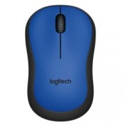 Мишка Logitech M220 Silent, оптична (1000dpi), безжична, USB, синя
