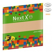 NextX Brick Baseplates Compatible with LEGO Brick Building Toys,10'' X 10'' Thickening Base Plate for Major Brand Building Blocks (Sand)