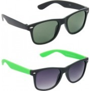 Hrinkar Wayfarer Sunglasses(Green, Grey)