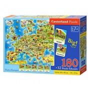 Puzzle Harta Europei, 180 piese