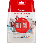 "CANON CLI-581 XL C/M/Y/BK Multi Pack + 50 sheets 4x6"" Photo Paper (2052C004AA)"