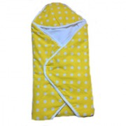 Krivi Kids Printed Multi-Color Hooded BlanketWrapper For Baby(Unisex) (Yellow)