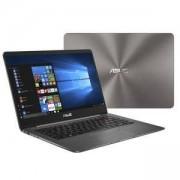 Лаптоп Asus UX430UA-GV271T, Intel Core i7-8550U (up to 4GHz, 8MB), 14 инча FullHD (1920x1080) LED AG, 8GB DDR4, 256GB SSD SATA3, Intel HD Graphics, 90