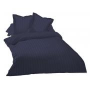 CONFORAMA Parure housse de couette 240X220cm + 2 taies d'oreiller SATINA coloris bleu orage