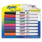 Low-Odor Dry-Erase Marker, Ultra Fine Point, Assorted, 8/set