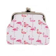Flamingo Vit Pengapung med Flamingo-Motiv 7x10 cm