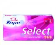 Fripa Papierfabrik Albert Friedrich KG Fripa Select TAE Toilettenpapier, 3-lagig, 100 % Zellstoff, hochweiß, 1 Packung = 8 Rollen à 180 Blatt