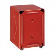 Olympia Distributeur de Serviettes Inox Rouge 107x90x120(h)mm
