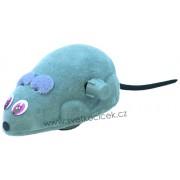 Myš natahovací Karlie 6,5 cm šedá