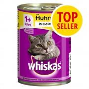 Whiskas Fai scorta! Whiskas 1+ lattine 24 x 400 g - Carni bianche in terrina