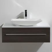 Thalassor Meuble de salle de bain 90 cm CURL Finition bois