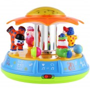 Bebé Juguete Proyector Projector Toy Musical Rotation Clown Amusement Park