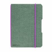 CAIET MY.BOOK FLEX A5 40 FILE PATRATELE COPERTA DIN PANZA GRI ELASTIC ROZ gri Matematica A5 Caiet cu elastic 40 file