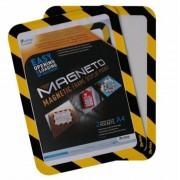Mágneses tasak, mágneses háttal, A4, TARIFOLD Magneto Safety, sárga-fekete (TF194924)