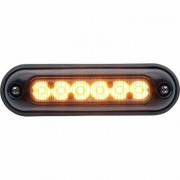 Whelen ION Compact Super-LED Warning Light - Amber Lens, Surface Mount, Model IONSMA, Black