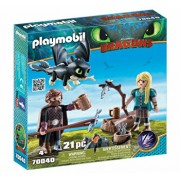 Playmobil Dragons III, Hiccup, Astrid si pui de dragon