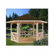 Palmako Betty Hexagonal Gazebo with Tongue and Groove Roof
