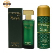 Eternal Love Body Spray Xlouis Men 200ml + Eternal Love Eau De Parfum Xlouis Men 120ml