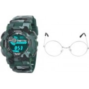 stuffy club Digital Watch, Round Sunglass Combo(Multicolor)