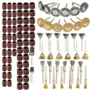 DIY Crafts Polisher set for Rotary Tool including Wire Brushes Polishing & Wheels Sand Drum with Mandrel kit (98pcs)