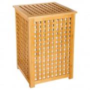 Bambou Koš na prádlo, bambusový koš, koš na oděvy, kontejner, obdélníkový koš, světle hnědá barva, BAMBOU