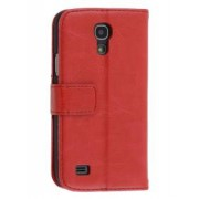 Synthetic Leather Wallet Case with Stand for Samsung Galaxy S4 mini - Samsung Leather Wallet Case (Red)