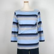 Mingel Rand-top, blå nyans (Stl: S, )