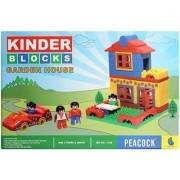 Peacock Kinder Blocks Garden House For Kids