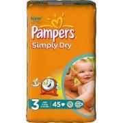 Pampers Baby Luiers - Simply Dry Maat 3 - 45stuks