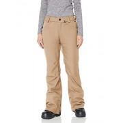 Volcom Grail 3D Pantalones de Nieve elásticos para Mujer, Marrón Arena, M
