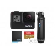 Camera GoPro Hero7 Black Bundle (+acumulator GoPro+GoPro Shorty + 32GB SanDisk