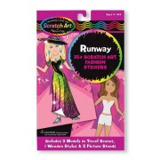 Melissa & Doug Scratch Art Scratchin' Fashion Runway Sticker Fun Kit - 35+ Stickers