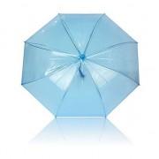 Merkloos Paraplu blauw plastic